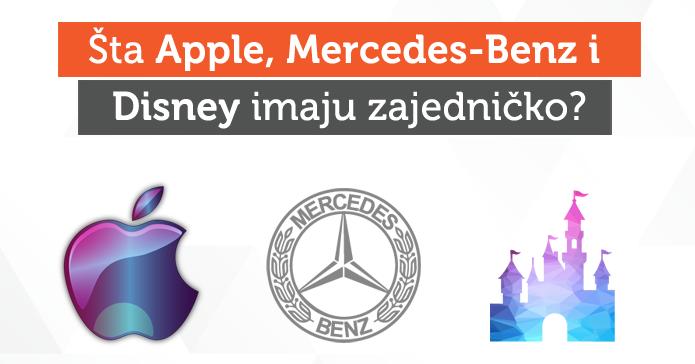 Šta Apple, Mercedes-Benz i Disney imaju zajedničko?